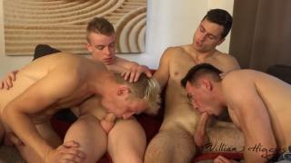 group sex with Tomas Salek, Petr Jarena, Petr Ujen and Kristof Trnka at William Higgins