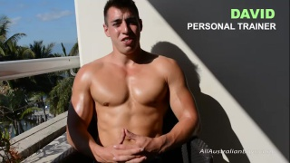 aussie muscle hunk David at All Australian Boys