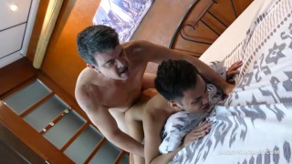 Daddy Mike and Gilbert fuck Raw at Daddy's Asians