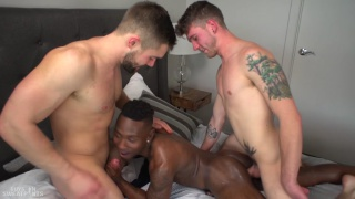 threeway sex with Griffin Barrows, Miller Axton, and Ash Hendricks at Guys in Sweatpants