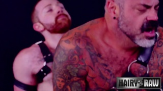 Sean Knight and Scotty Rage fuck at Hairy and Raw