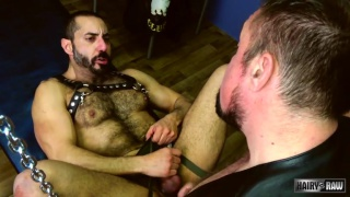Jack Hardy and Amir Badri at Hairy and Raw