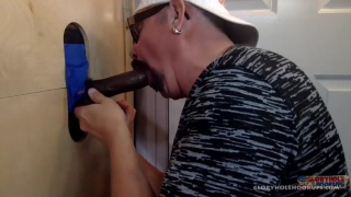 Swallowing Big Black Meat At Gloryhole Hookups