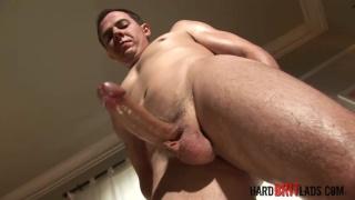 Jake Richards masturbates at Hard Brit Lads
