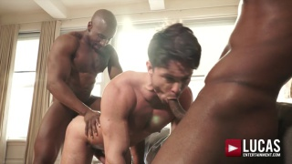 ANDRE DONOVAN AND MAX KONNOR fuck devin franco at Lucas Entertainment