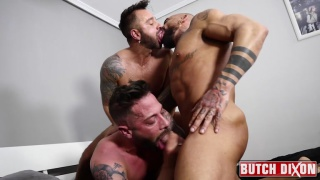 threeway sex with Martin Mazza, Jose Santos & Sebastian Reissx at Butch Dixon