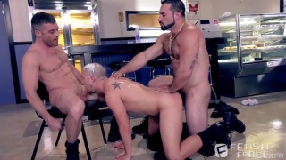 Jaxton Wheeler, Lance Hart & Eli Hunter at Fisting Central