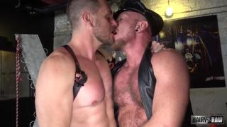Dick Savvy and Hans Berlin at Hairy & Raw