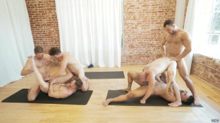 yoga at Jizz Orgy