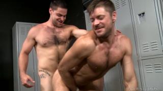 locker room sex with Aspen & Jack Andy at Men Over 30