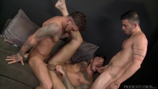 threeway sex with Seth Knight, Cris Knight & Cesar Rossi at Men Over 30