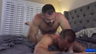 Bishop Angus and Michael Roman fucking at Breed Me Raw