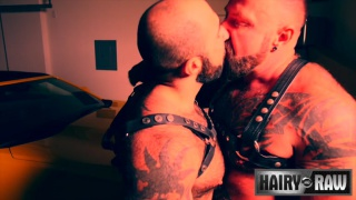 muscle bears Marc Angelo and Atlas Grant fucking at Hairy & Raw