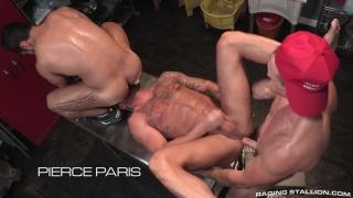 Bruno Bernal, Michael Roman & Pierce Paris at raging stallion