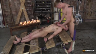 Koby Lewis & Tyler Underwood BDSM play at Boynapped