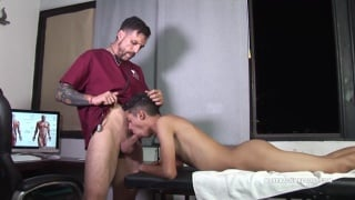 doctor and patient Joris and Dante fucking at Bareback Me Daddy