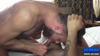Logan Moore and Leo Forte barebacking at Breed Me Raw