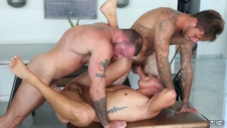 threeway sex with Brian Michaels, Sean Duran & Aston Springs at MEN